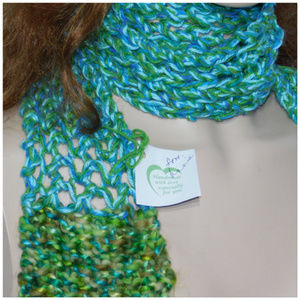 Accessories - Scarf, multiple wrap around styles. Handmade, Knit